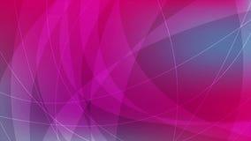 Animación abstracta azul y rosada del vídeo de las ondas