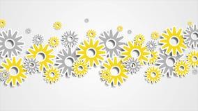 Animación abstracta brillante del vídeo del mecanismo de engranajes de la tecnología libre illustration