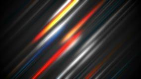 Animación abstracta colorida del vídeo de las rayas que brilla intensamente