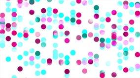 Animación abstracta colorida del vídeo de los círculos