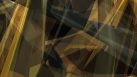 Animación abstracta de las formas grises amarillas transparentes que se mueven en espacio stock de ilustración