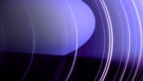 Animación abstracta de las líneas blancas que se mueven en círculos en un fondo púrpura Animación de los círculos ilustración del vector