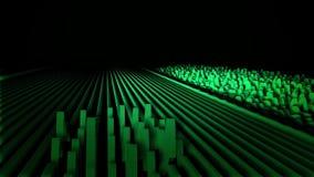 Animación abstracta de las líneas de la onda acústica Las líneas coloridas se mueven como ondas acústicas y despiden pulsos trian ilustración del vector