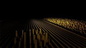 Animación abstracta de las líneas de la onda acústica Las líneas coloridas se mueven como ondas acústicas y despiden pulsos trian almacen de metraje de vídeo