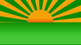 Animación abstracta de levantamiento del fondo del sol radial retro hermoso ilustración del vector