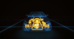 Animación abstracta de un coche adentro Imágenes de archivo libres de regalías