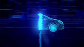 Animación abstracta del coche 3D libre illustration