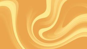 animación abstracta del fondo 4k de rayas móviles anaranjadas y amarillas curvadas stock de ilustración
