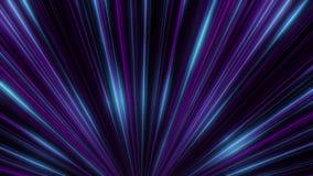 Animación abstracta del movimiento de neón colorido de los rayos del igual en el túnel de neón Abstracción colorida stock de ilustración