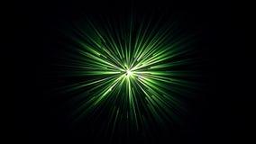Animación abstracta del túnel colorido con las rayas de la luz verde en un fondo negro Fondo abstracto del movimiento ilustración del vector