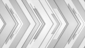 Animación abstracta gris del vídeo de la tecnología de las flechas