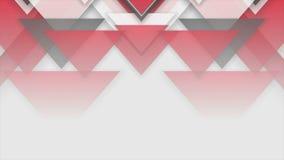 Animación abstracta roja del vídeo de la tecnología de los triángulos