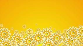 Animación anaranjada brillante del vídeo del mecanismo de engranajes de la tecnología