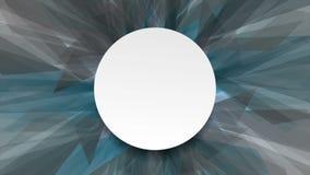 Animación azul y gris abstracta del vídeo de las formas