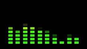 Animación, barra de la exhibición del equalizador, 4K ilustración del vector