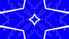 Animación blanca azul del caleidoscopio de la abstracción 3d rinden stock de ilustración