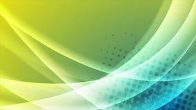 Animación brillante azul y amarilla del vídeo de las ondas