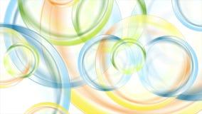Animación brillante colorida abstracta del vídeo de los círculos