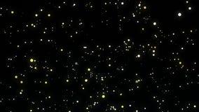 Animación chispeante de las estrellas del cielo nocturno ilustración del vector