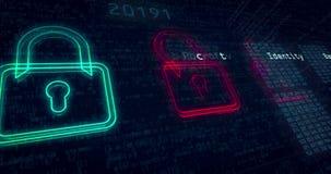 Animación cibernética del lazo de la seguridad stock de ilustración