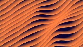 Animación colorida del lazo de la pendiente de la onda Las líneas diagonales geométricas futuras modelos indican el fondo represe stock de ilustración