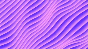 Animación colorida del lazo de la pendiente de la onda Las líneas diagonales geométricas futuras modelos indican el fondo represe ilustración del vector