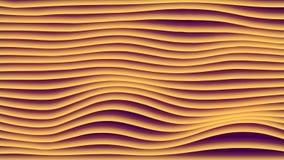 Animación colorida del lazo de la pendiente de la onda Las líneas geométricas futuras modelos indican el fondo representación 3d  stock de ilustración