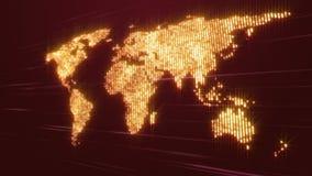 Animación con el mapa del mundo en el movimiento, lazo HD 1080p