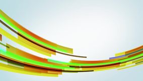 Animación con las líneas amarillas coloridas que entran en círculo de la izquierda, lazo almacen de video