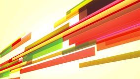 Animación con las líneas coloridas que se mueven a través de la pantalla, lazo almacen de metraje de vídeo