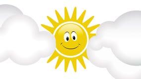Animación con los rayos del sol stock de ilustración