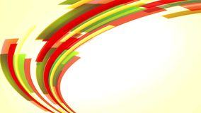 Animación con rojo colorido y Líneas Verdes que suben, lazo almacen de metraje de vídeo