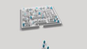 Animación conceptual del empleo ilustración del vector
