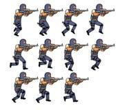 Animación corriente de la policía Fotos de archivo libres de regalías