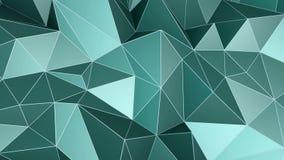 Animación cristalina triangular abstracta del fondo metrajes