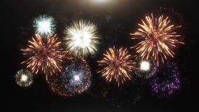 animación 3D de fuegos artificiales ilustración del vector