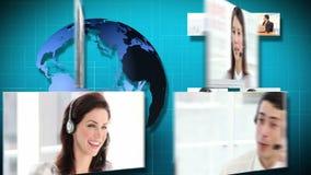 animación 3D de la comunicación empresarial almacen de video
