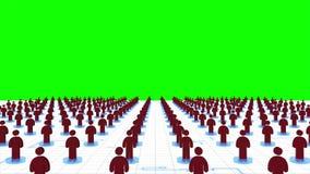 animación 3d de la red de la gente que liga compartiendo la información y conectando junto en los medios sociales c de Internet o stock de ilustración