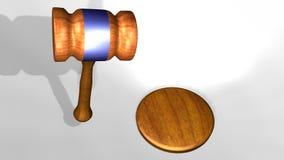 animación 3D de un mazo de los jueces ilustración del vector