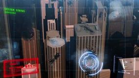 animación 3d de una ciudad destruida ilustración del vector