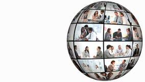 animación 3D en congresos de negocios almacen de video