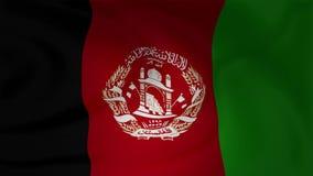 Animación de agitar lento de la bandera de Afganistán ilustración del vector