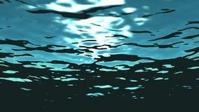 Animación de colocación de alta calidad de olas oceánicas del submarino ilustración del vector