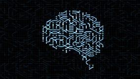 Animación de colocación inconsútil de una placa de circuito del cerebro libre illustration
