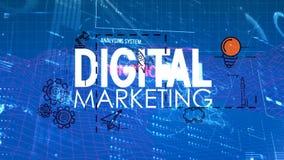 Animación de comercialización de Digitaces con códigos digitales stock de ilustración