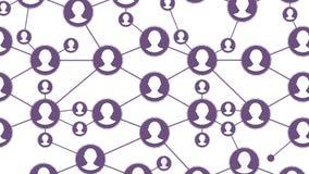 Animación de comunicaciones sociales La relación de la gente entre uno a Concepto social ilustración del vector