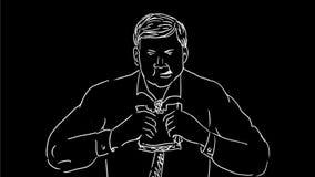 Animación de dibujo del bocadillo antropófago 2.a almacen de video