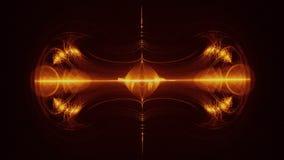 Animación de Digitaces de efectos luminosos ilustración del vector