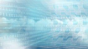Animación de Digitaces del código binario de la tecnología y de cubos geométricos almacen de video