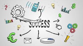 Animación de Digitaces del concepto del éxito